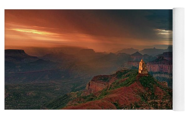 Storm Clouds North Rim Grand Canyon Arizona Yoga Mat by Dave Welling