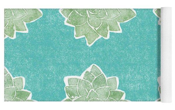 Summer Succulents- Art By Linda Woods Yoga Mat by Linda Woods