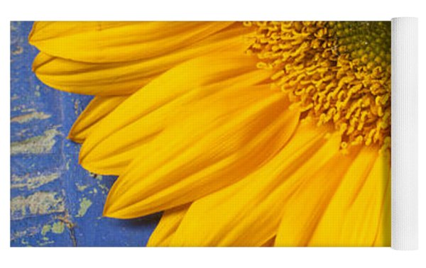 Sunflower And Skeleton Key Yoga Mat