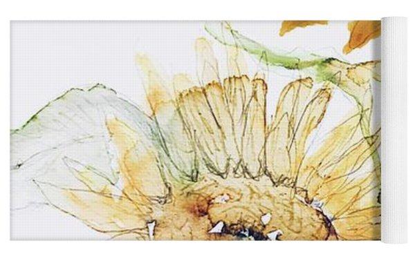 Sunflowers II Uncropped Yoga Mat by Monique Faella