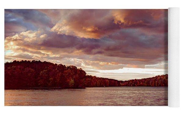 Sunset Over Libery Reservoir Yoga Mat by T Brian Jones