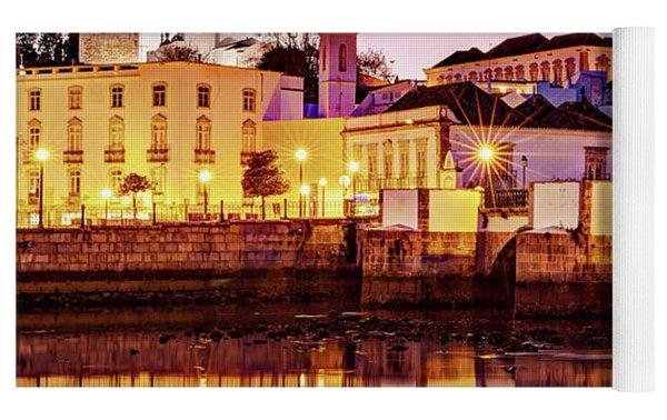 Tavira Reflections - Portugal Yoga Mat by Barry O Carroll