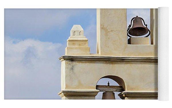 The Bells Of San Juan Yoga Mat by Mary Jo Allen