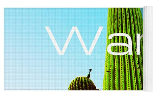 The Desert Warrior Poster Vi Yoga Mat by MB Dallocchio