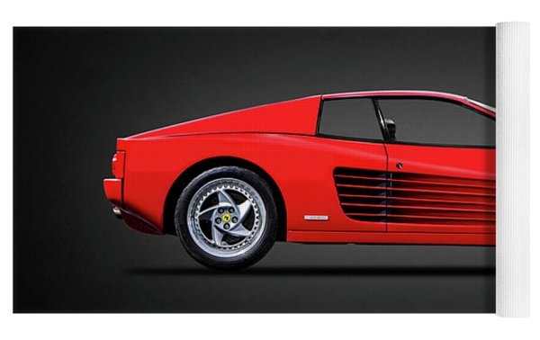 The Ferrari Testarossa Yoga Mat