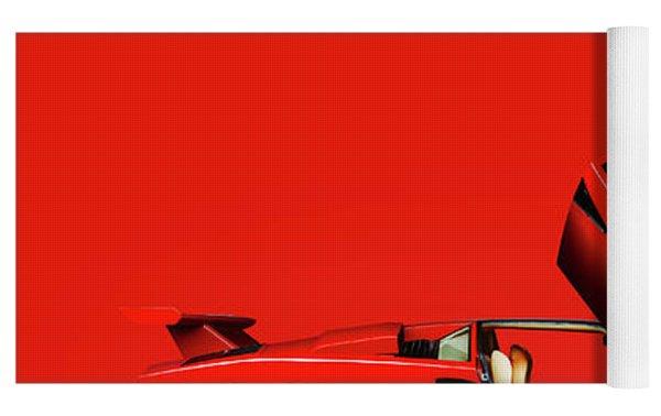 The Lamborghini Countach Yoga Mat by Mark Rogan