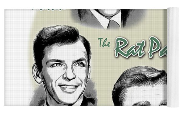The Rat Pack Yoga Mat by Greg Joens