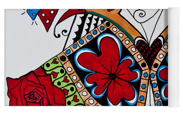 The Red Queen Yoga Mat by Jani Freimann