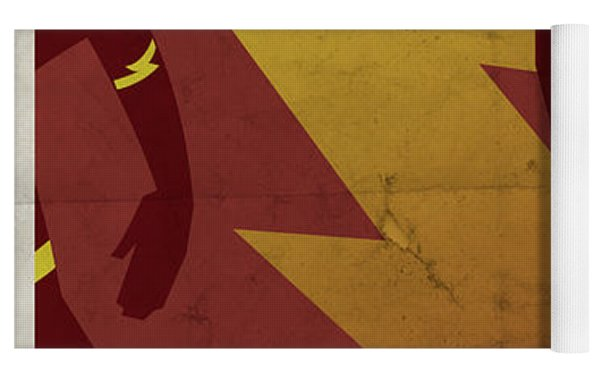 The Scarlet Speedster Yoga Mat by Michael Myers