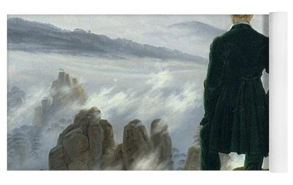 The Wanderer Above The Sea Of Fog Yoga Mat