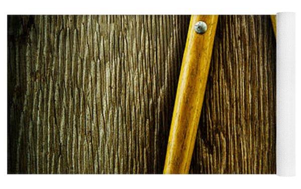 Tools On Wood 34 Yoga Mat
