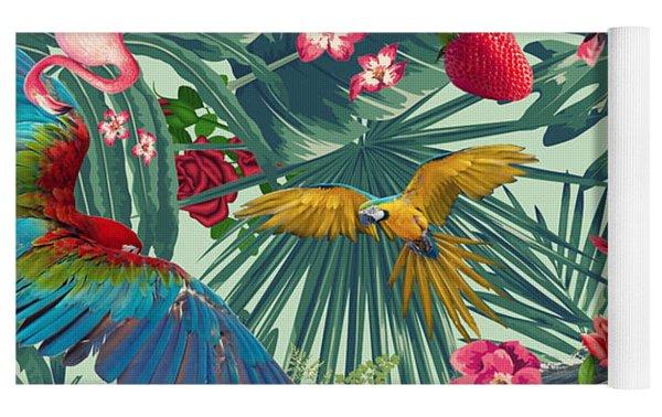 Tropical Fun Time  Yoga Mat by Mark Ashkenazi