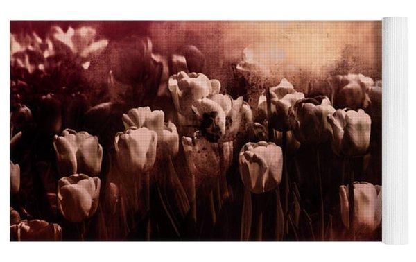 Tulips Burnt Sienna Yoga Mat by Richard Ricci