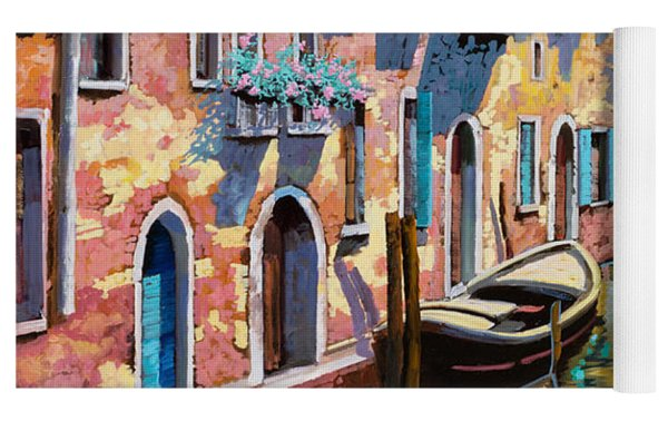 Venezia In Rosa Yoga Mat by Guido Borelli