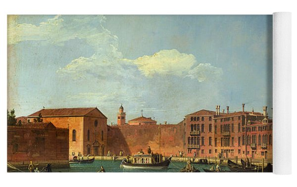 View Of The Canal Of Santa Chiara Yoga Mat