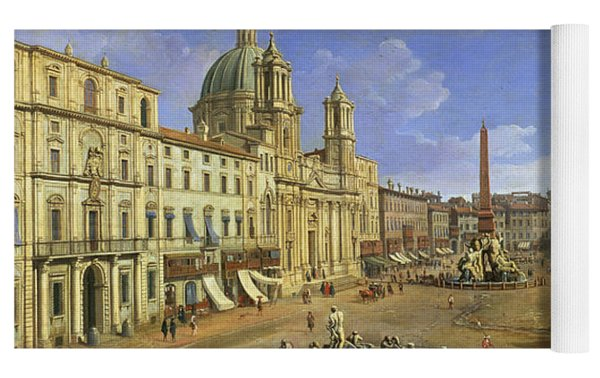 View Of The Piazza Navona Yoga Mat