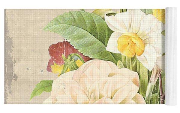 Vintage French Flower Shop 1 Yoga Mat by Debbie DeWitt