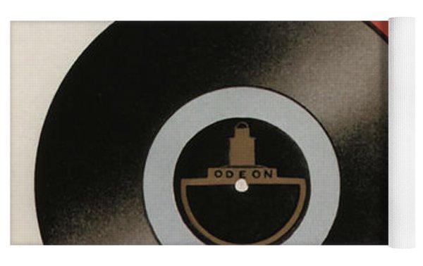 Vintage Vinyl Records Art Deco Yoga Mat