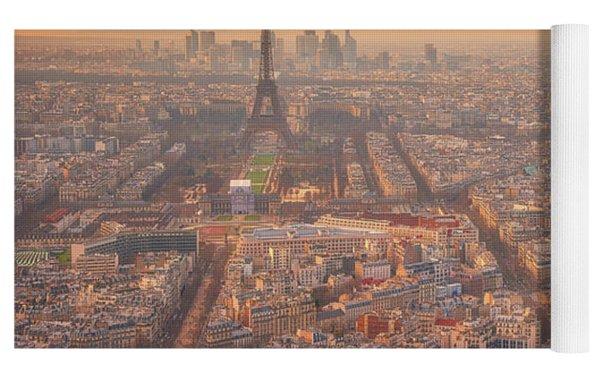 Warm Paris Sunset Yoga Mat by Darren White