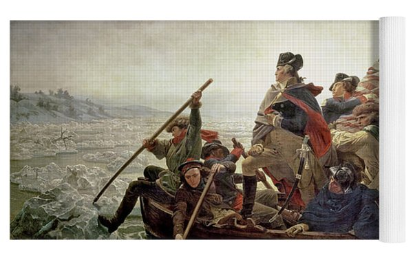 Washington Crossing The Delaware River Yoga Mat