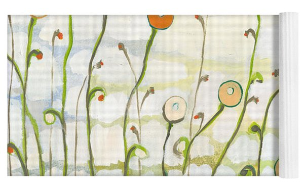Watching The Clouds Go By No 2 Yoga Mat by Jennifer Lommers