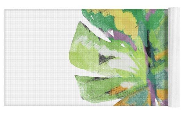 Watercolor Palm Leaf- Art By Linda Woods Yoga Mat by Linda Woods
