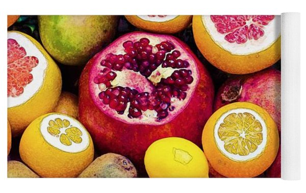 Watercolor Superfood Combo Yoga Mat by Celestial Images