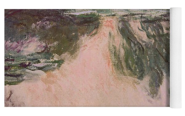 Waterlilies With Weeping Willows Yoga Mat by Claude Monet