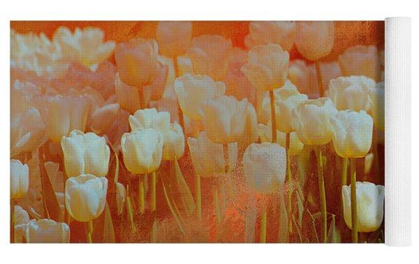 White Tulips Yoga Mat by Richard Ricci