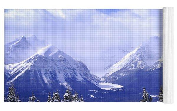 Winter Mountains Yoga Mat by Elena Elisseeva