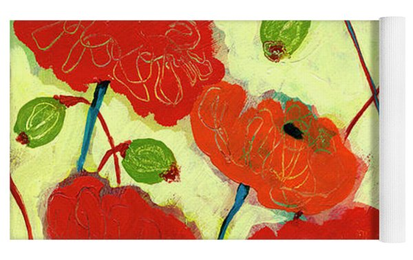 Wishful Blooming Yoga Mat by Jennifer Lommers
