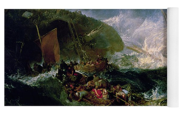Wreck Of A Transport Ship Yoga Mat by Joseph Mallord William Turner