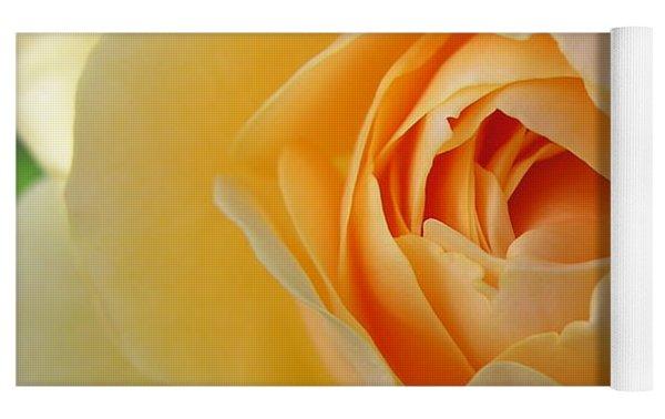 Yellow Graham Thomas Rose Yoga Mat by Jocelyn Friis