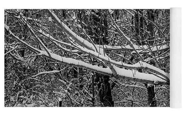 Snow Day Yoga Mat by Lora J Wilson
