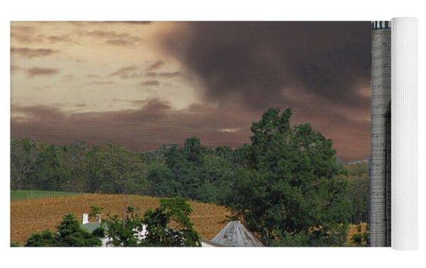 Sunset On The Farm Photo Yoga Mat by David Dehner