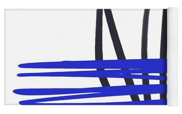 Abstract 704 Yoga Mat by Marian Palucci-Lonzetta