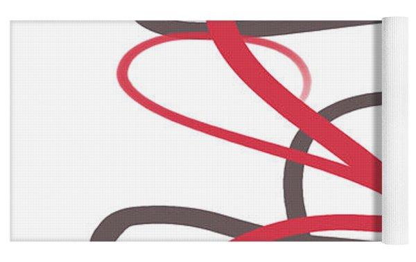 Abstract 730 Yoga Mat by Marian Palucci-Lonzetta