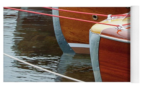 Antique Wooden Boats In A Row Portrait 1301 Yoga Mat by Rick Veldman