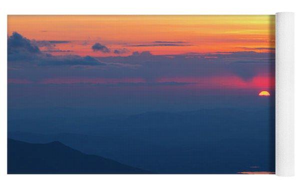 Appalachian Trail, New Hampshire Sunset Yoga Mat by Erin Paul Donovan