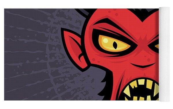 Mad Devil Yoga Mat by John Schwegel