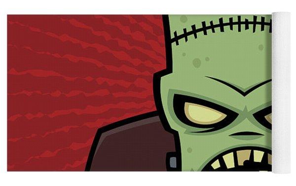 Frankenstein Monster Yoga Mat by John Schwegel