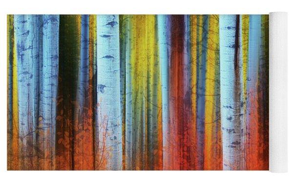 Autumn In Color Yoga Mat by John De Bord