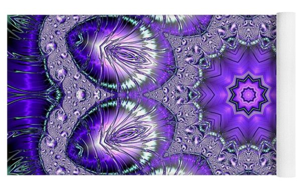 Bejeweled Easter Eggs Fractal Abstract Yoga Mat by Rose Santuci-Sofranko