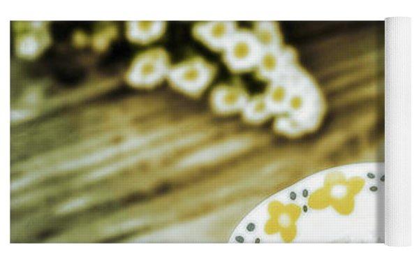 Chamomile Tea Yoga Mat by Susan Maxwell Schmidt