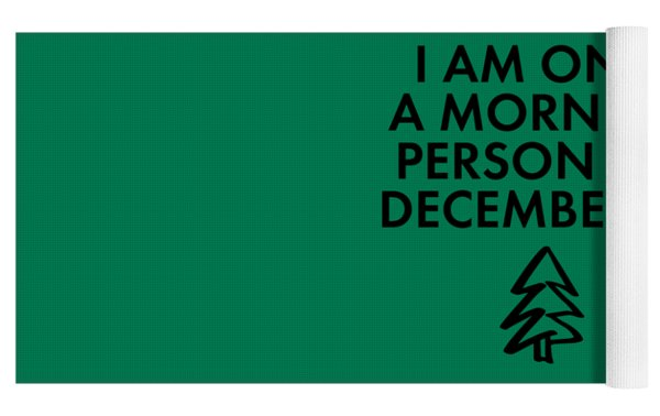 Christmas Morning Person Yoga Mat by Nancy Ingersoll