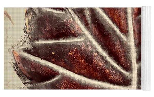 Copper Leaf Yoga Mat by Marian Palucci-Lonzetta