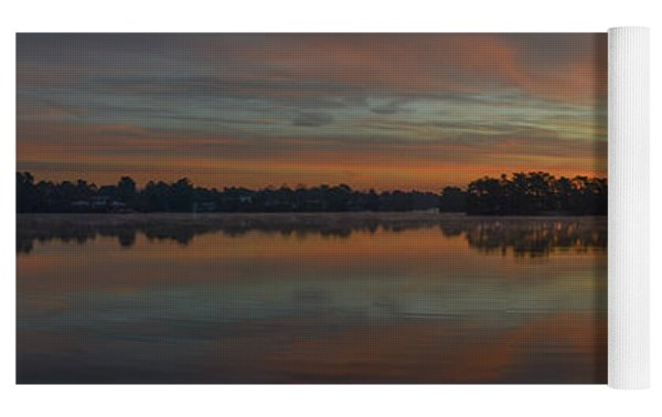 December Sunrise Over Spring Lake Yoga Mat by Beth Sawickie