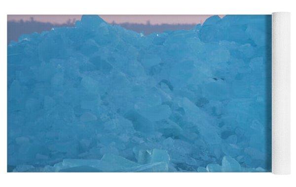 Eagle On Ice Mackinaw City 2261803 Yoga Mat by Rick Veldman