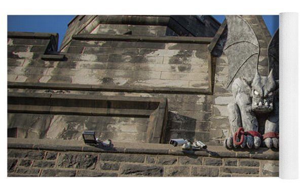Eastern State And The Gargoyle Yoga Mat by Lora J Wilson