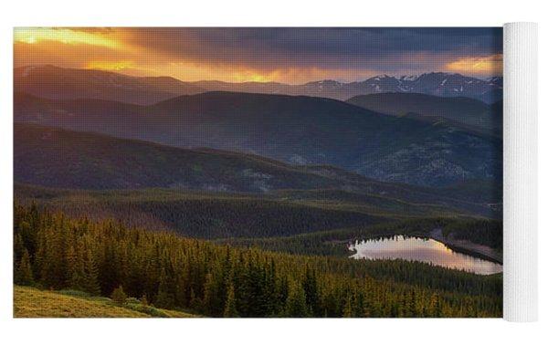 Echo Lake Sunset Yoga Mat by Darren White